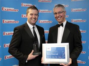 Dave Duffy receiving SME award